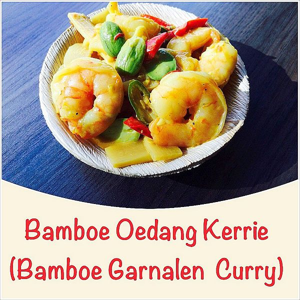 Bamboe Oedang Kerrie - bamboe garnalen curry