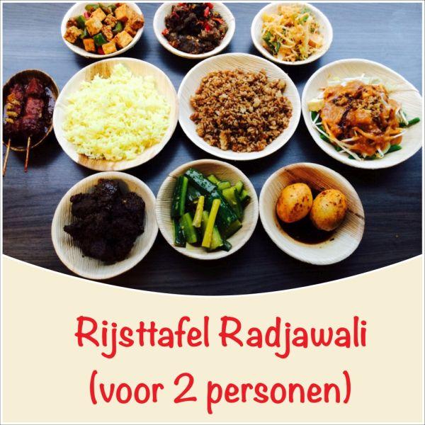 Radjawli Rijsttafel voor 2 personen