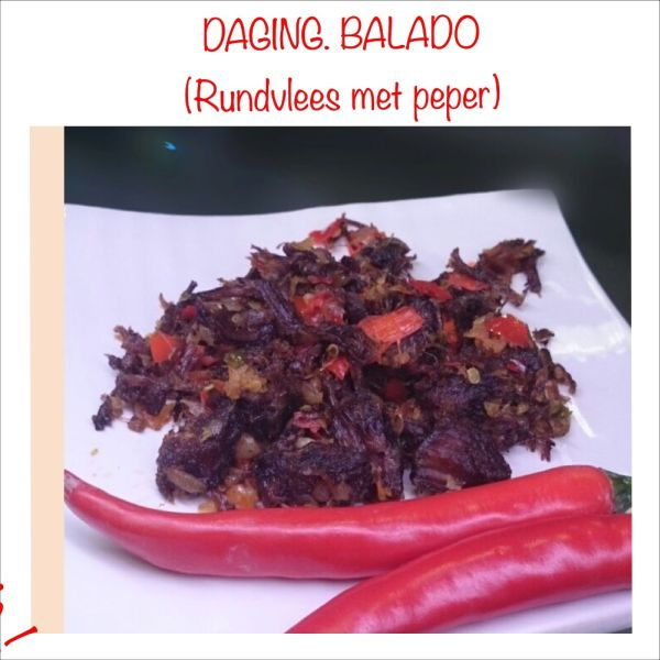 Daging Balado - Rundvlees met peper