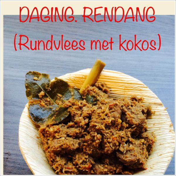 Daging Rendang - rundvlees met kokos