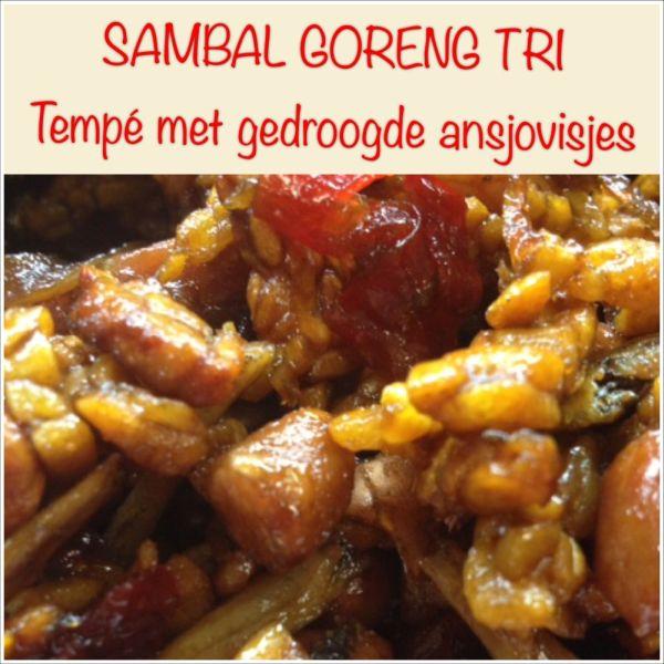 Sambal goreng tri - Tempe met gedroogde ansjovis