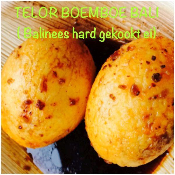 Telor boemboe bali - Balinees hard gekookt ei
